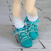 Куклы и игрушки ручной работы. Ярмарка Мастеров - ручная работа Ботиночки замшевые(3 цвета). Handmade.