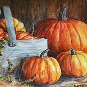 Картины и панно ручной работы. Ярмарка Мастеров - ручная работа Осенний урожай. Handmade.