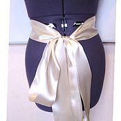 Свадебный салон handmade. Livemaster - original item The satin sash in stock long. Handmade.