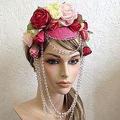 """Аксессуары ручной работы. Ярмарка Мастеров - ручная работа Арт-шляпка """"The Queen rose"""". Handmade."""