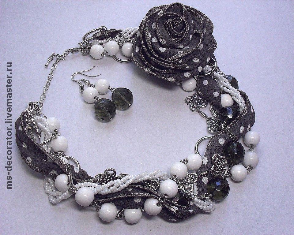 Jewelry Sets handmade. Livemaster - handmade. Buy Retro polka dots. Kit. Necklace, brooch and earrings.Silver, kit