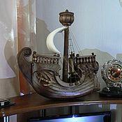 """Статуэтки ручной работы. Ярмарка Мастеров - ручная работа Корабль """"Носорог"""". Handmade."""