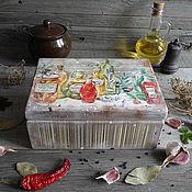 """Для дома и интерьера ручной работы. Ярмарка Мастеров - ручная работа """"Вкус Тосканы"""" Большой деревянный короб  ОЛЬХА. Handmade."""