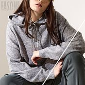 Одежда handmade. Livemaster - original item Jerseys: Grey Alpaca Sweater Women`s Sweater. Handmade.