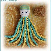 Мягкие игрушки ручной работы. Ярмарка Мастеров - ручная работа Осьминог вязаный, мягкая игрушка. Handmade.