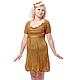 Платье женское `Винтаж`. Авторская коллекция 2015 года. Lorraine Woolheart.  Состав: Хлопок Размер: L; XL Цвет: Оранжевый меланж