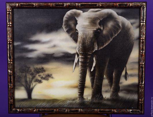 Животные ручной работы. Ярмарка Мастеров - ручная работа. Купить Слон. Handmade. Коричневый, бежевый, сафари, песок, фауна, подарок