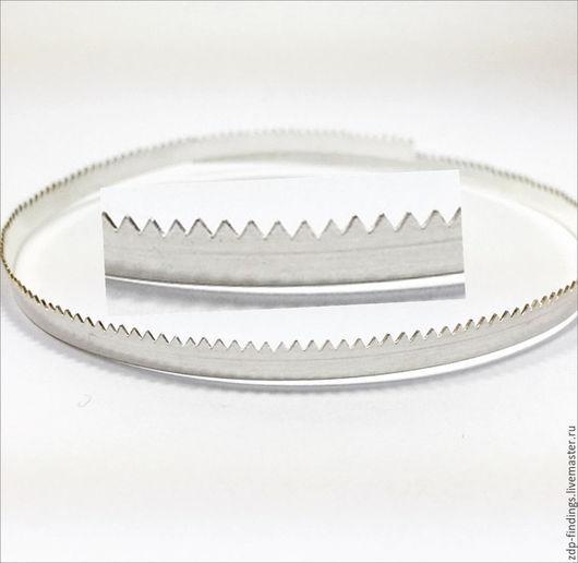 Для украшений ручной работы. Ярмарка Мастеров - ручная работа. Купить 30см Серебряная фигурная зубчатая лента 5мм C000354. Handmade.