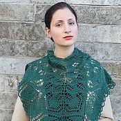 Аксессуары handmade. Livemaster - original item Pure wool emerald shawl. Handmade.