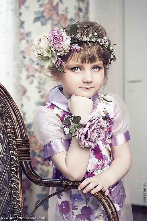 """Цветы ручной работы. Ярмарка Мастеров - ручная работа. Купить Венок на голову """"Прованс"""". Цветы из шелка.. Handmade. Венок из цветов"""