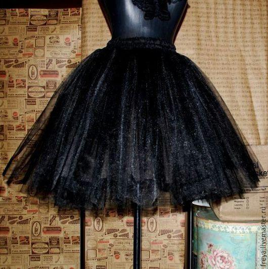 Юбки ручной работы. Ярмарка Мастеров - ручная работа. Купить Черная юбка -пачка. Handmade. Юбка пачка, юбка-миди