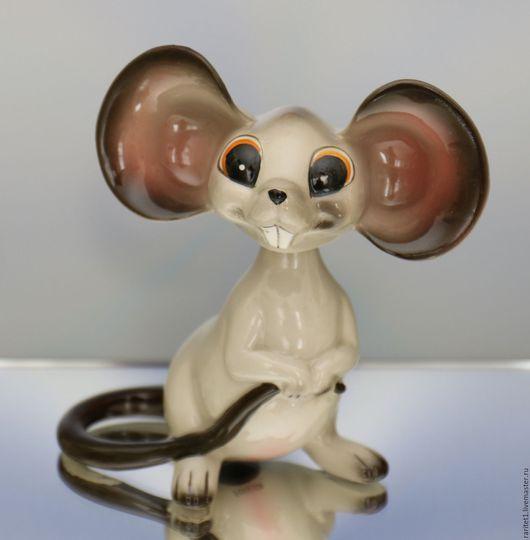 Винтажные предметы интерьера. Ярмарка Мастеров - ручная работа. Купить Мышь вращающаяся голова крыса Германия 6. Handmade. Раритет