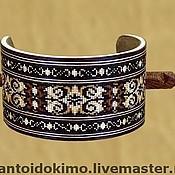 Украшения handmade. Livemaster - original item Hairpin with unique inlay with wood, barrette with a stick, hairstik. Handmade.