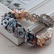 Украшения handmade. Livemaster - original item Bracelet of petal pearls keisha