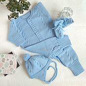 Работы для детей, ручной работы. Ярмарка Мастеров - ручная работа Комбинезон для новорожденных Косички. Handmade.