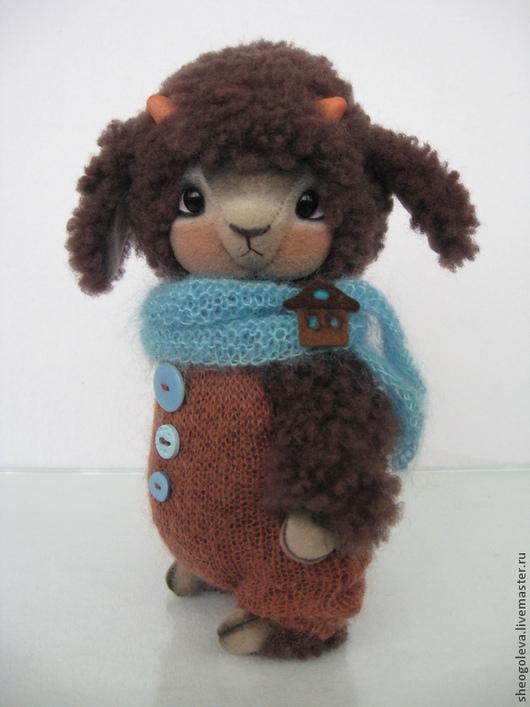 Мишки Тедди ручной работы. Ярмарка Мастеров - ручная работа. Купить Lamb Ollie... :-). Handmade. Коричневый