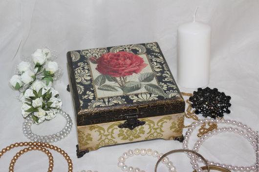 Шкатулки ручной работы. Ярмарка Мастеров - ручная работа. Купить Шкатулка Роза - барокко. Handmade. Разноцветный, подарок девушке