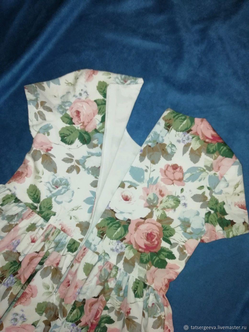 Детское платье Цветочная поляна