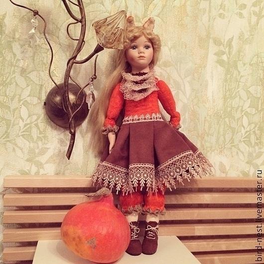 Коллекционные куклы ручной работы. Ярмарка Мастеров - ручная работа. Купить Лиса Алиса. Handmade. Рыжий, кукла интерьерная, керамика
