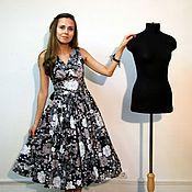 """Одежда ручной работы. Ярмарка Мастеров - ручная работа Платье в стиле 50-х  """"Любимое черно-белое"""". Handmade."""