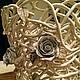 Кашпо `Прованс` кремовое. Плетеная керамика и керамические цветы Елены Зайченко