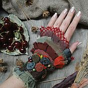 """Украшения ручной работы. Ярмарка Мастеров - ручная работа Бохо-браслет  """" Ягодный """". Handmade."""
