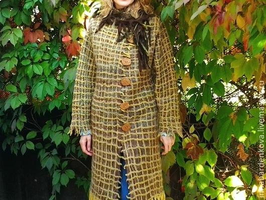 """Верхняя одежда ручной работы. Ярмарка Мастеров - ручная работа. Купить Пальто """". Handmade. Хаки, пальто женское, меринос"""