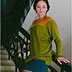 Кофты и свитера ручной работы. Ярмарка Мастеров - ручная работа. Купить Кофта-туника зелено-желтая. Handmade. Однотонный, туника
