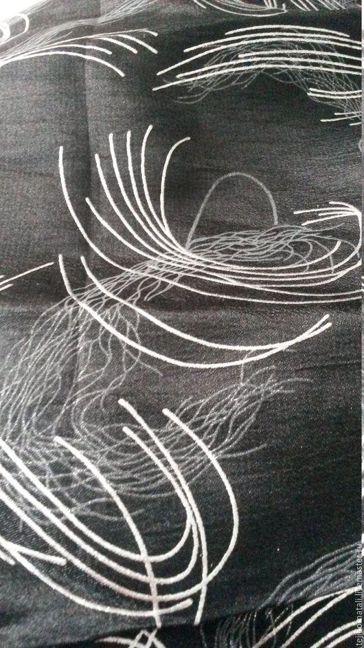 Шитье ручной работы. Ярмарка Мастеров - ручная работа. Купить Костюмная черная с серебром. Handmade. Черный, материалы для творчества