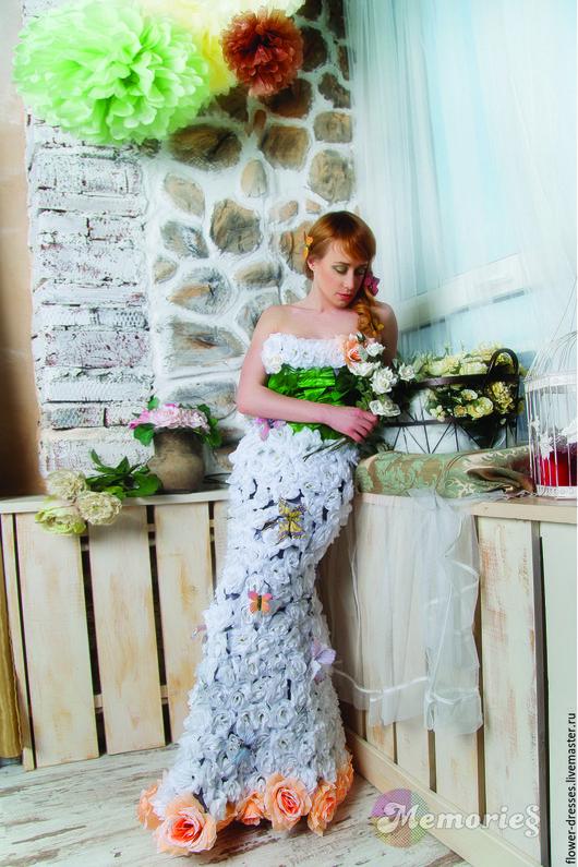 """Платья ручной работы. Ярмарка Мастеров - ручная работа. Купить Платье """" Весна"""". Handmade. Комбинированный, ручная авторская работа"""