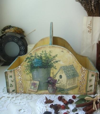 """Корзины, коробы ручной работы. Ярмарка Мастеров - ручная работа Короб для специй """"Provencal herbs"""". Handmade."""