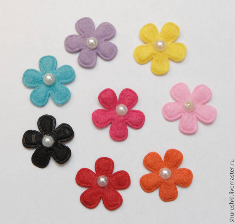 Как сделать из цветы из фетра своими руками 708