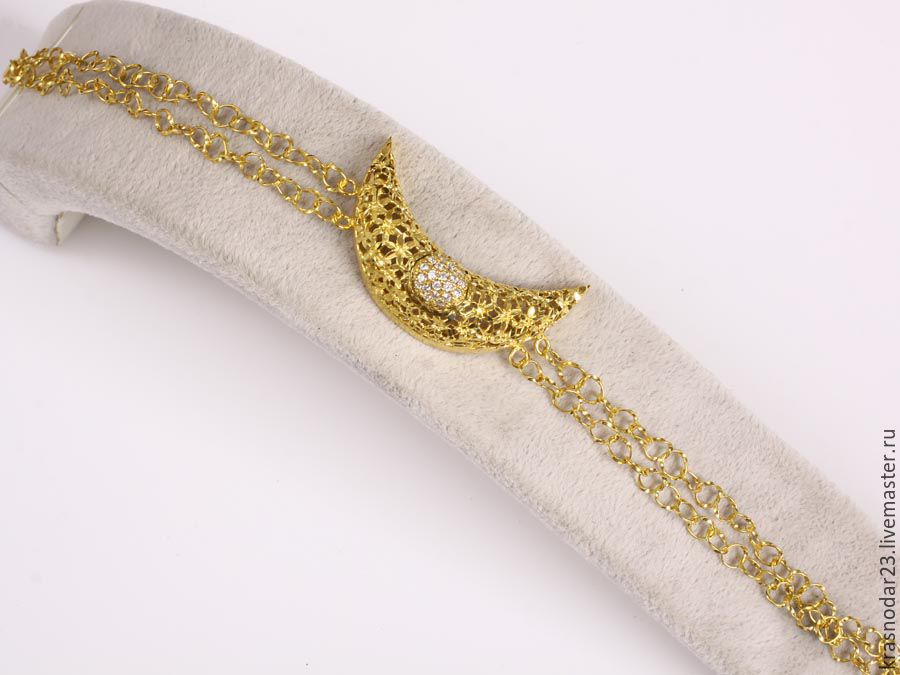 bracelet from silver 925 gold plated 24 carat lemon gold with white Topaz