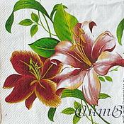 Материалы для творчества handmade. Livemaster - original item 3pcs napkins decoupage flowers paper. Handmade.