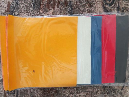 Другие виды рукоделия ручной работы. Ярмарка Мастеров - ручная работа. Купить НАБОР небольшие  листы экокожи № 45. Handmade.
