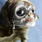 Куклы и игрушки ручной работы. Ярмарка Мастеров - ручная работа кукла черепушка-погремушка Раджа. Handmade.