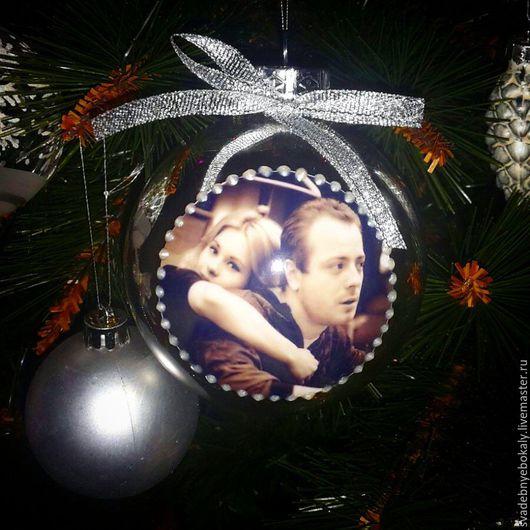 Елочный шар с фотографией Новогодний шар с Вашим фото. Елочный шар с вашим фото. Елочный шар ручной работы. Елочный шар декупаж. Handmade