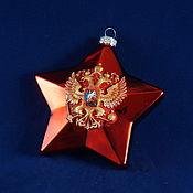 Подарки к праздникам handmade. Livemaster - original item Christmas tree star, Novogodnyaya toy,Christmas tree decoration Russian coat of Arms star. Handmade.
