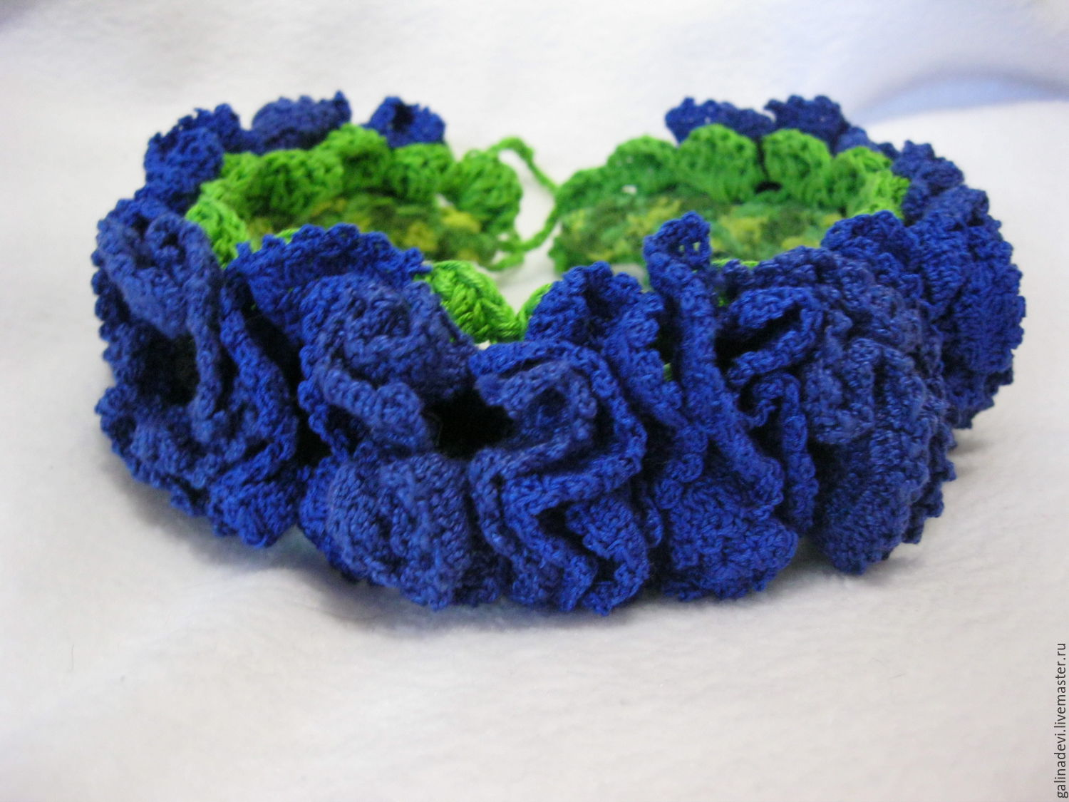 A wreath on the head,hair band for girls 'Cornflowers', Tiaras, Moscow,  Фото №1
