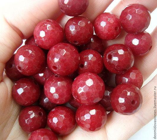 Для украшений ручной работы. Ярмарка Мастеров - ручная работа. Купить Агат, бусина с огранкой, рубиново-красный, шар, 11 мм. Handmade.