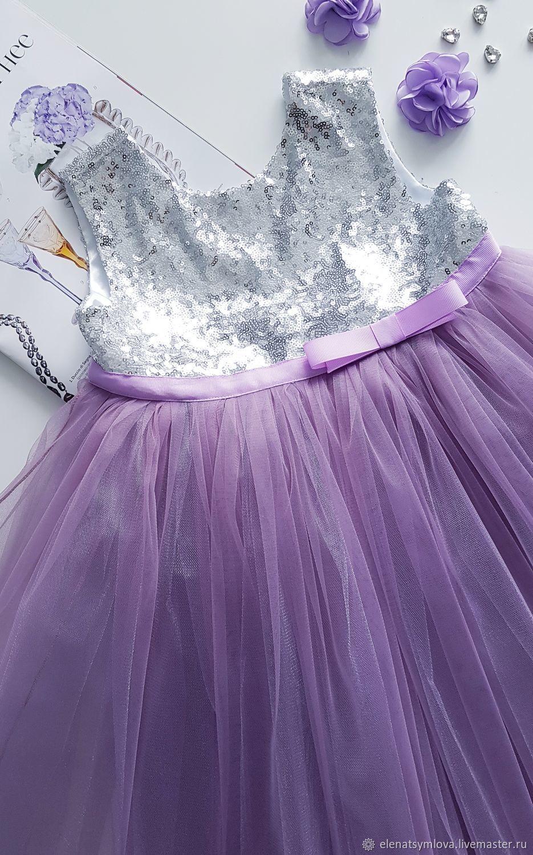 В НАЛИЧИИ!  Детское платье Аметист на серебре, Платье, Москва,  Фото №1