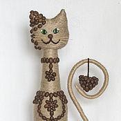 Куклы и игрушки ручной работы. Ярмарка Мастеров - ручная работа Кофейная кошка. Handmade.