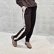 Одежда ручной работы. Ярмарка Мастеров - ручная работа Вязаные брюки свободного стиля Sport Mix. Handmade.