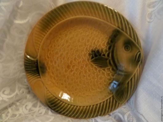 """Винтажная посуда. Ярмарка Мастеров - ручная работа. Купить 70-е.Керамика.Тарелки """"Рыбка"""".2 штуки.. Handmade. Комбинированный"""