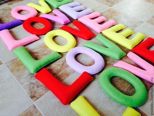 Интерьерные слова ручной работы. Ярмарка Мастеров - ручная работа. Купить Буквы из фетра.. Handmade. Из фетра, дети, имя