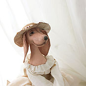 Куклы и игрушки ручной работы. Ярмарка Мастеров - ручная работа Такса в стиле будуарной куклы. Handmade.