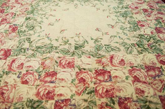 Текстиль, ковры ручной работы. Ярмарка Мастеров - ручная работа. Купить Лоскутное панно «Цветы». Handmade. Бежевый, украшение для интерьера