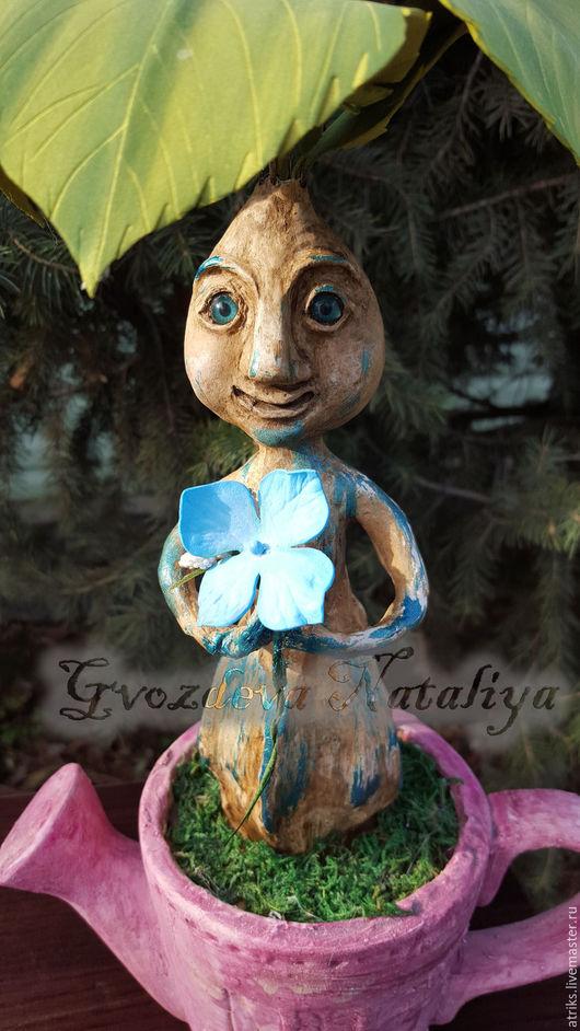 Цветы ручной работы. Ярмарка Мастеров - ручная работа. Купить Гортензия голубая. Handmade. Голубой, подарок женщине, авторская работа