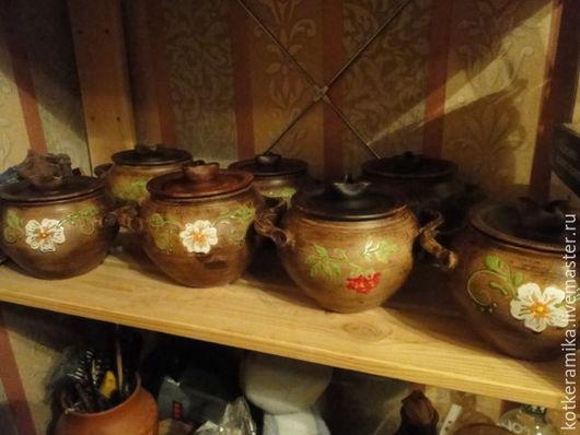 Декоративная посуда ручной работы. Ярмарка Мастеров - ручная работа. Купить горшочек для запекания. Handmade. Коричневый, глазурь, глазурь по керамике