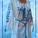 """Блузки ручной работы. Ярмарка Мастеров - ручная работа. Купить Блуза """"Голубые розы"""". Handmade. Белый, одежда с вышивкой"""